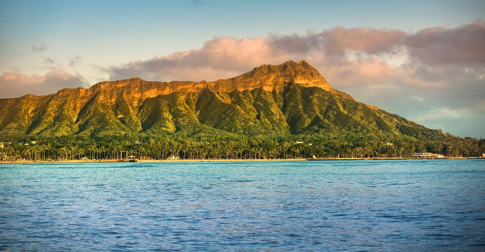 Beautiful Hawaiian Mountain and Sea Scene