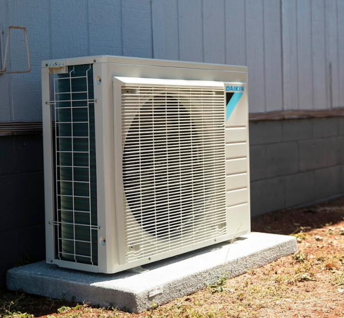 An air conditioner installed in a home